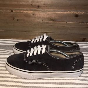 VANS Gray Suede Thick Sole Sneakers
